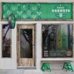 Media Naranja taco shop restaurant branding in San Francisco California