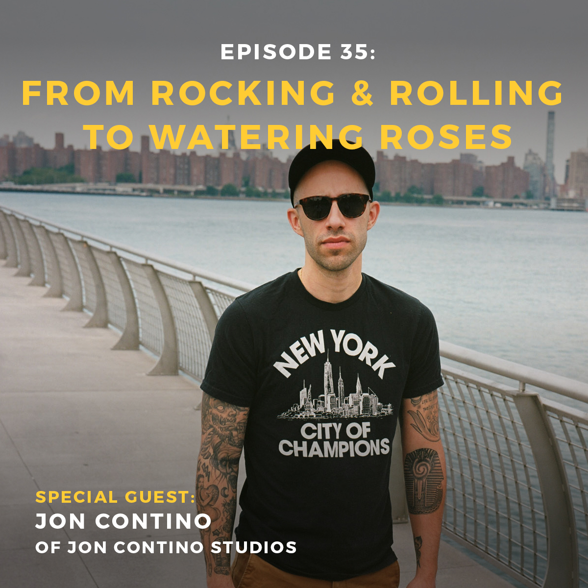 Jon Contino podcast interview on branding, hand lettering, and creative