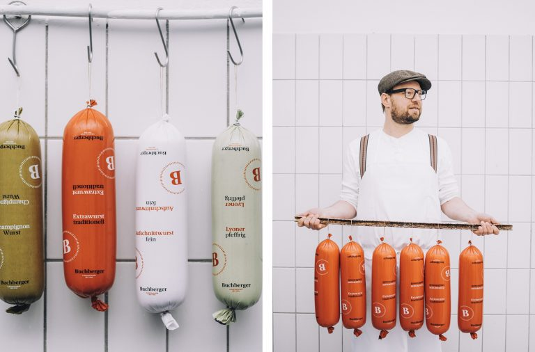 Buchberger butcher shop branding and identity design by Riebenbauer