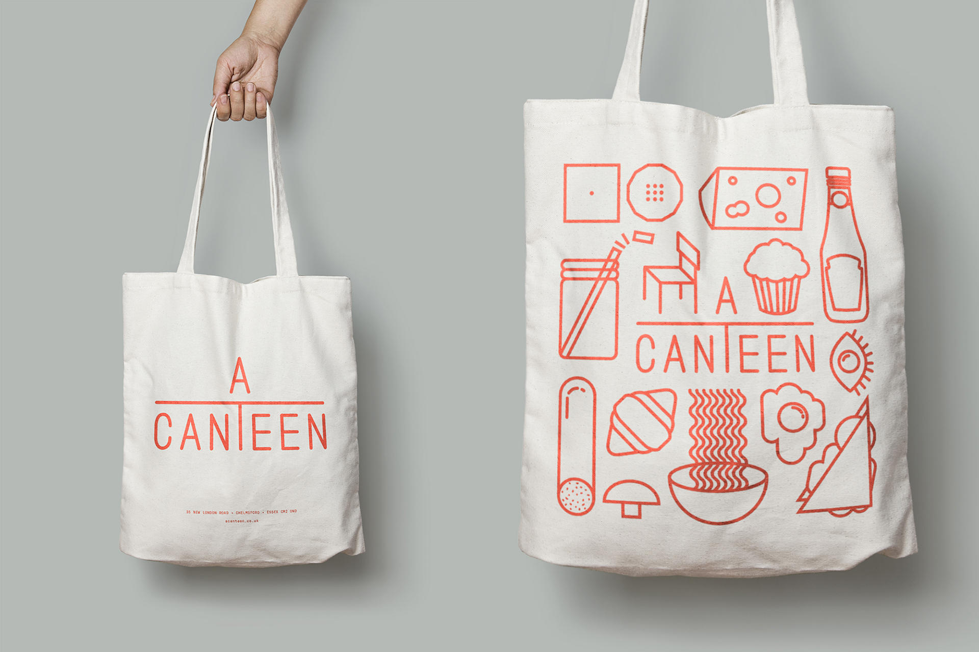 A Canteen bakery restaurant branding by IWANT Design in London UK