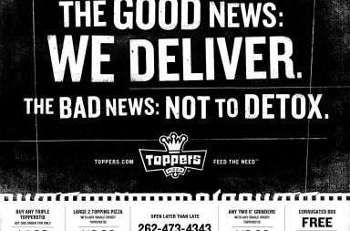 Pizza brand marketing and advertising for Toppers PIzza by Shine United