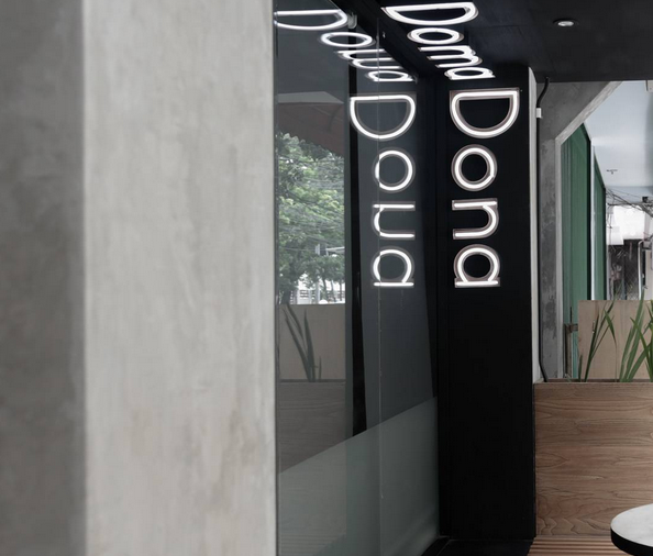 Doma Dona coffee and cafe branding and interior design by Senka in Jakarta Indonesia