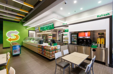 New Subway interior brand experience design by FRCH