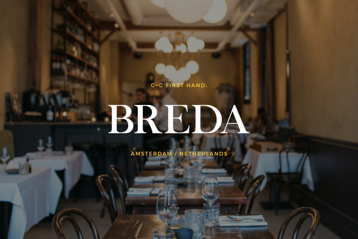 Breda Restaurant review in Amsterdam Netherlands first hand