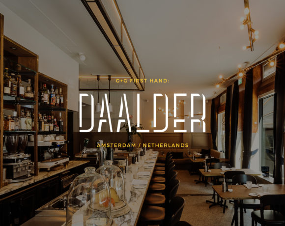 Restaurant Daalder branding, interior design, culinary review Amsterdam, Netherlands