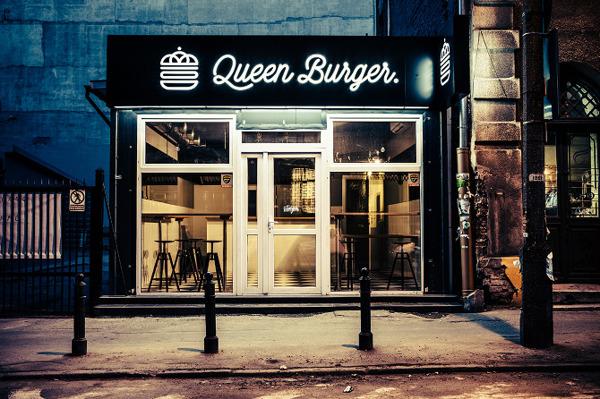 Queen Burger restaurant branding