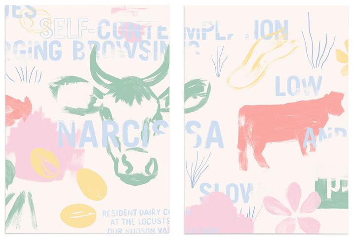 Narcissa restaurant branding and design by Triboro