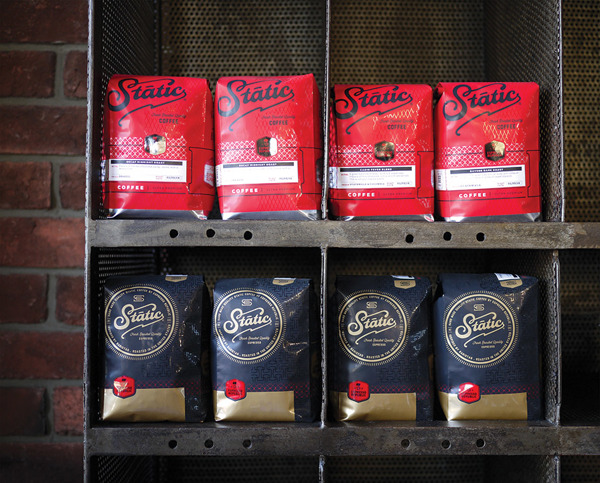 Static Coffee espresso republic package design by Farm Design