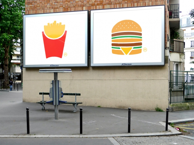 McDonad's advertising in paris france by TBWA