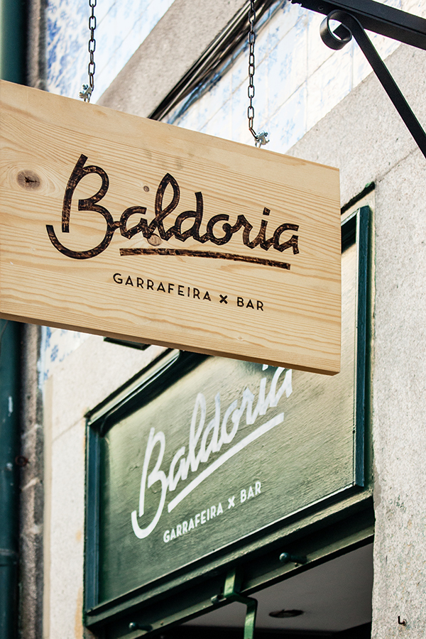 Baldoria bar branding by another collective