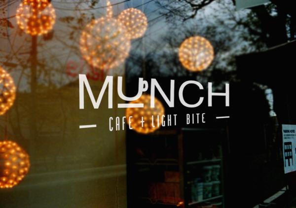 Munch cafe and restaurant branding by Hazel Chong