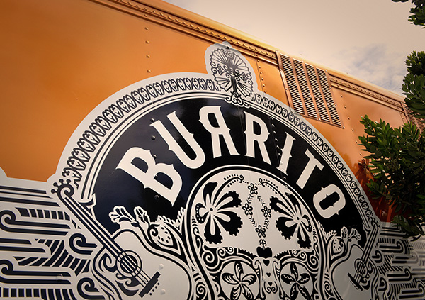 Burrito Magic food truck branding by Phil Dunstan-brown