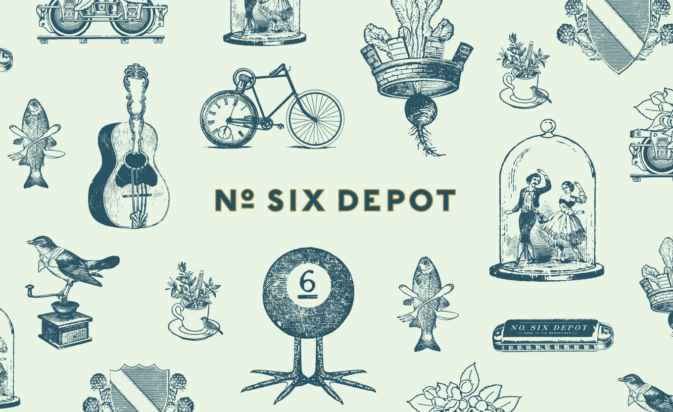 No Six Depot coffee and tea cafe branding by Perky Bros