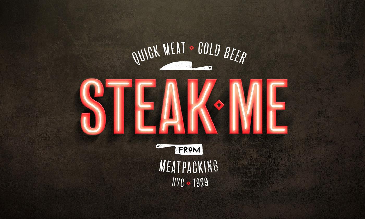 Steak Me steak house fast casual restaurant branding by Pos Imagem in Brazil