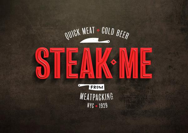 Steak Me restaurant branding by Pos Imagem in Brazil