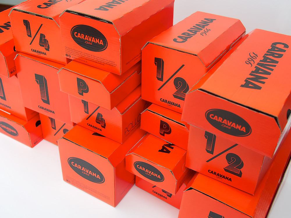 Caravana restaurant takeout packaging design by IS Creative Studio