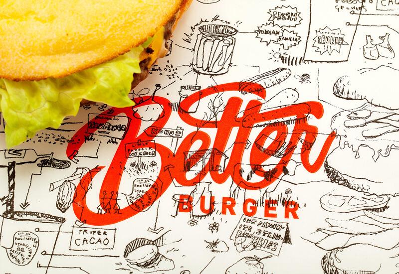 Better Burger restaurant branding by 485 Creative NZ