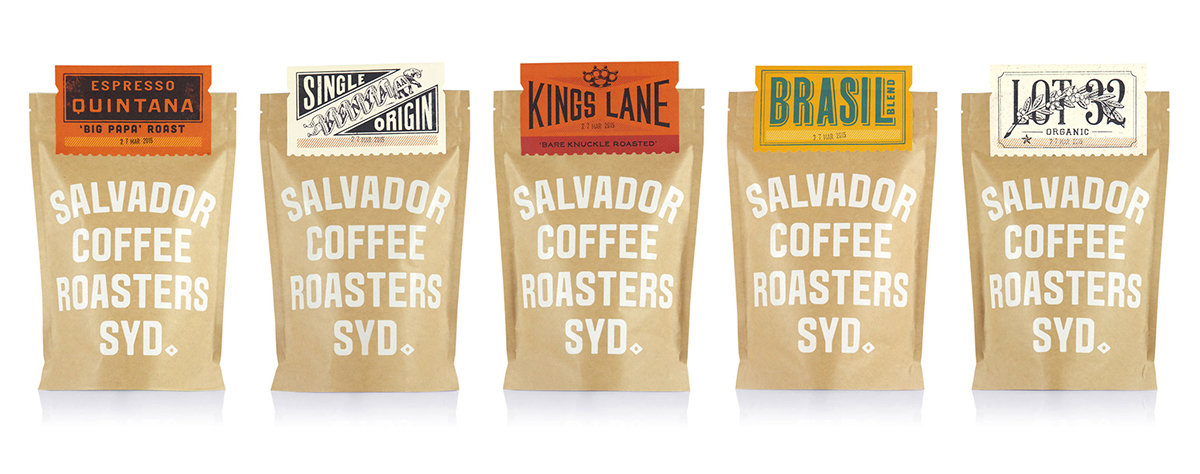 Salvador Coffee Roasters branding and packaging design by Co Partnership