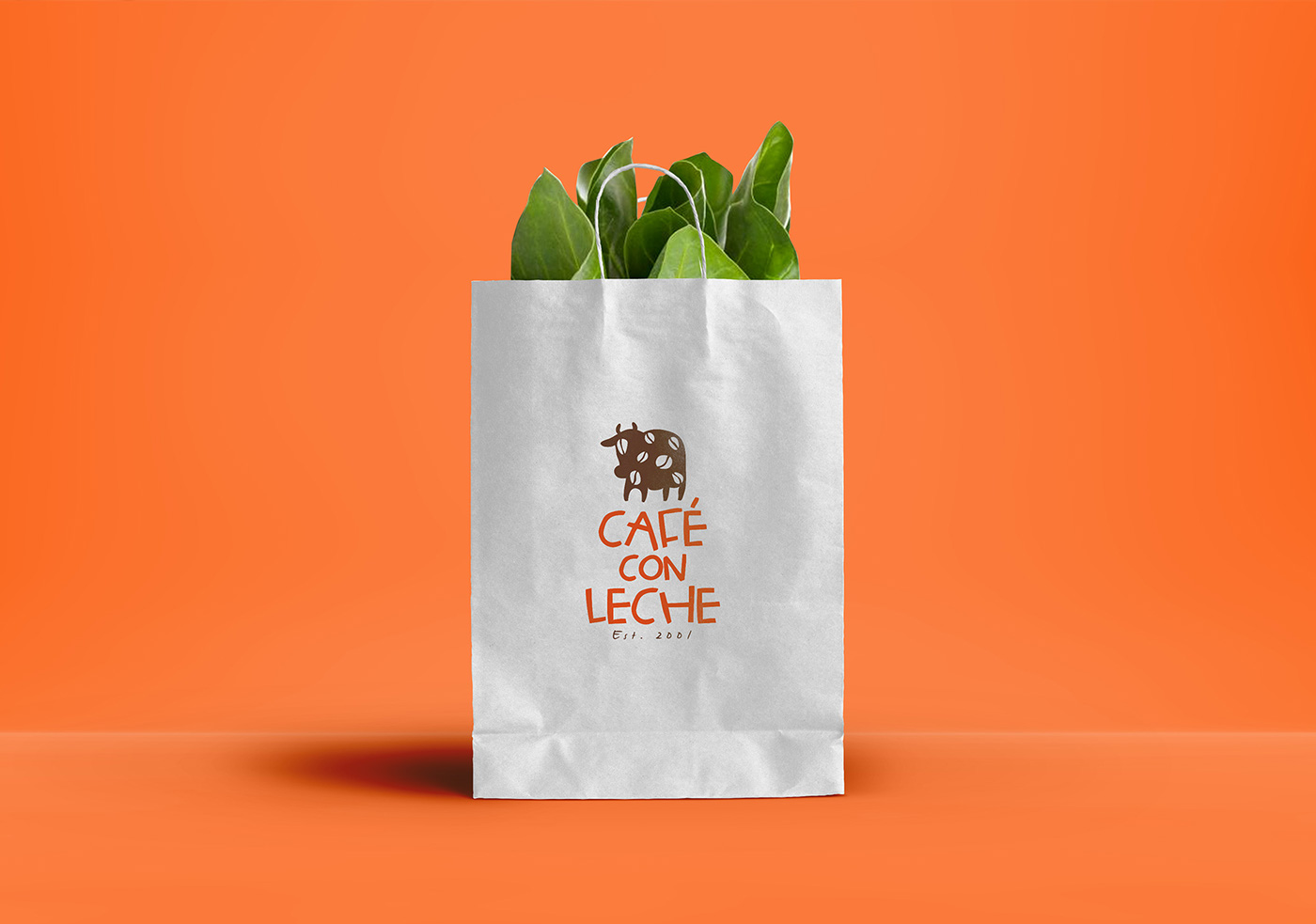 Cafe Con Leche fast casual restaurant branding by Emicel Mata in Chicago Illinois