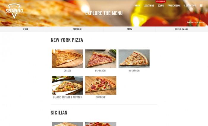 sbarro-website-menu