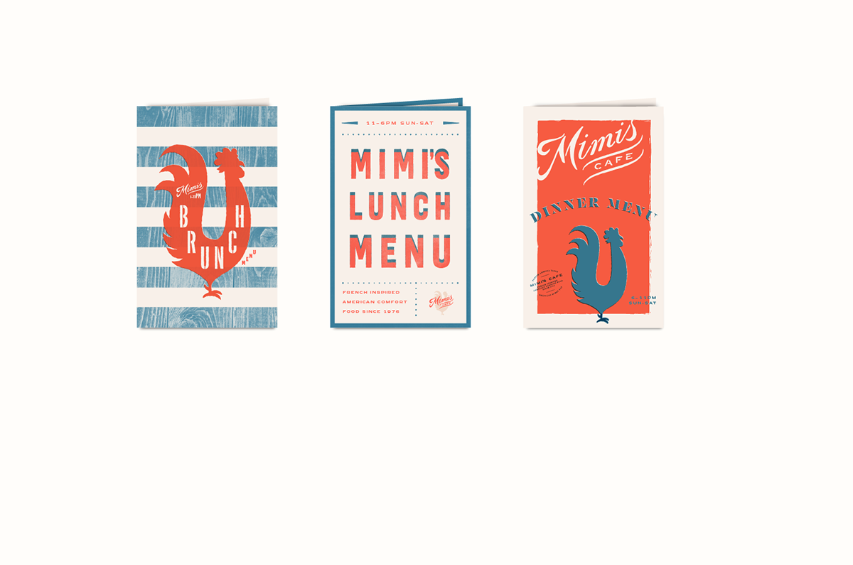 Mimi's Cafe rebranding design by Tractorbeam in United States