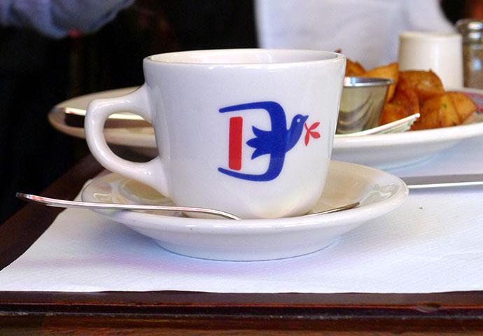 Le Diplomate restaurant branding by De Vicq Design in Washington, DC