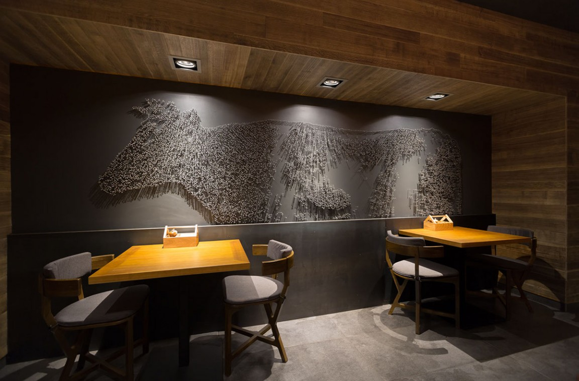 The village restaurant interior design grits grids - Restaurant bathroom design ideas ...