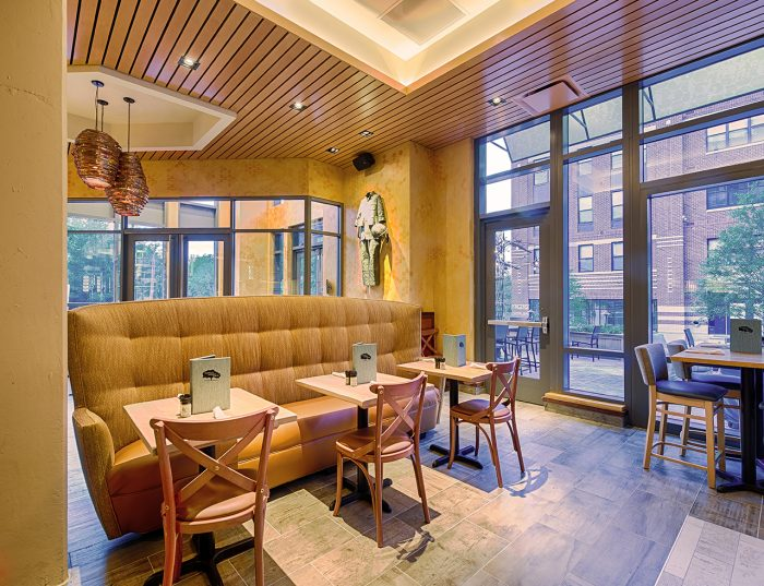 Tupelo Honey Cafe restaurant interior design and architecture