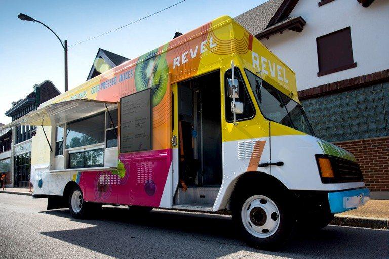 Revel Kitchen restaurant and food truck branding by AtomicDust