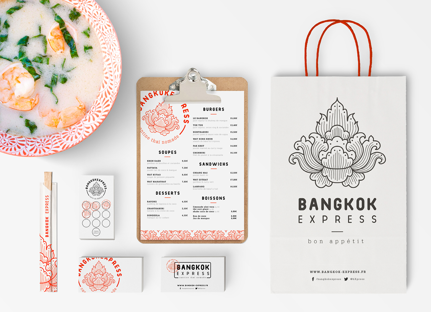 Thai food truck branding and design by Morgan Perrot in Paris France