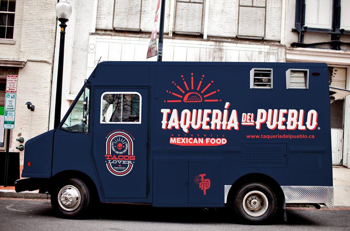 taqueria del pueblo food truck branding grits grids. Black Bedroom Furniture Sets. Home Design Ideas