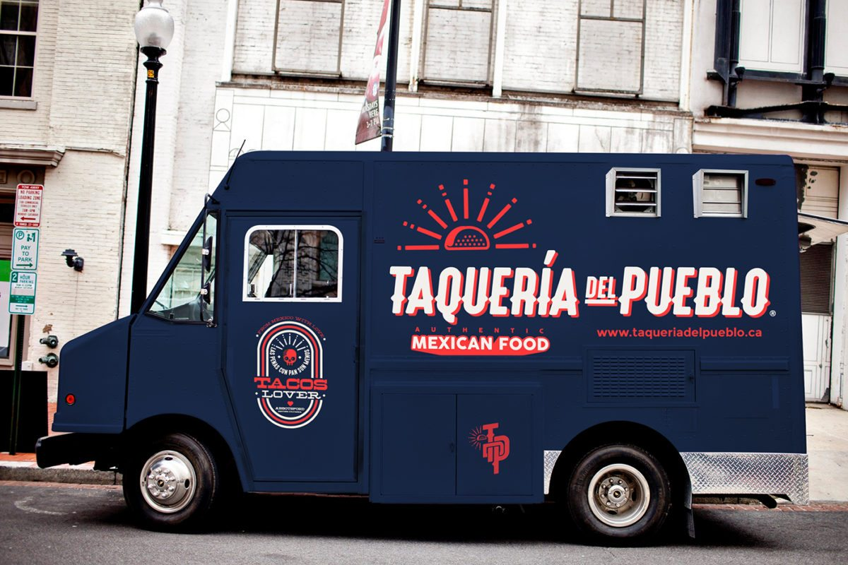 Taqueria Del Pueblo food truck branding and design by Jaime Espinoza