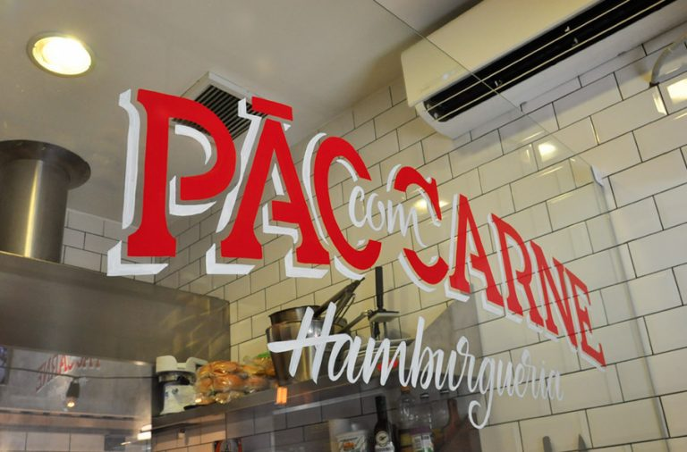 6db25deffb2c Pao Con Carne burger restaurant branding by Victor Tognoliio in Sao Paulo  Brasil