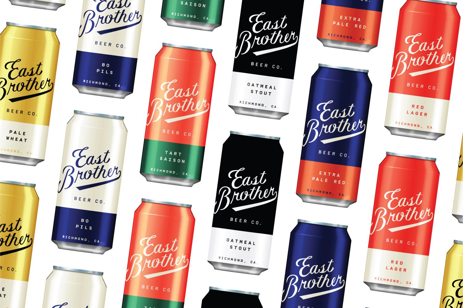 East Brother Beer Company branding and package design by Good Beer Hunting Studio in USA