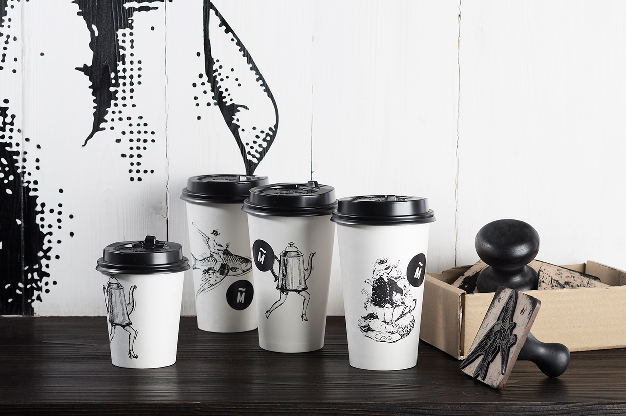 Dreamer's Cafe restaurant branding and interior design by F61 Workroom in St. Petersburg, Russia