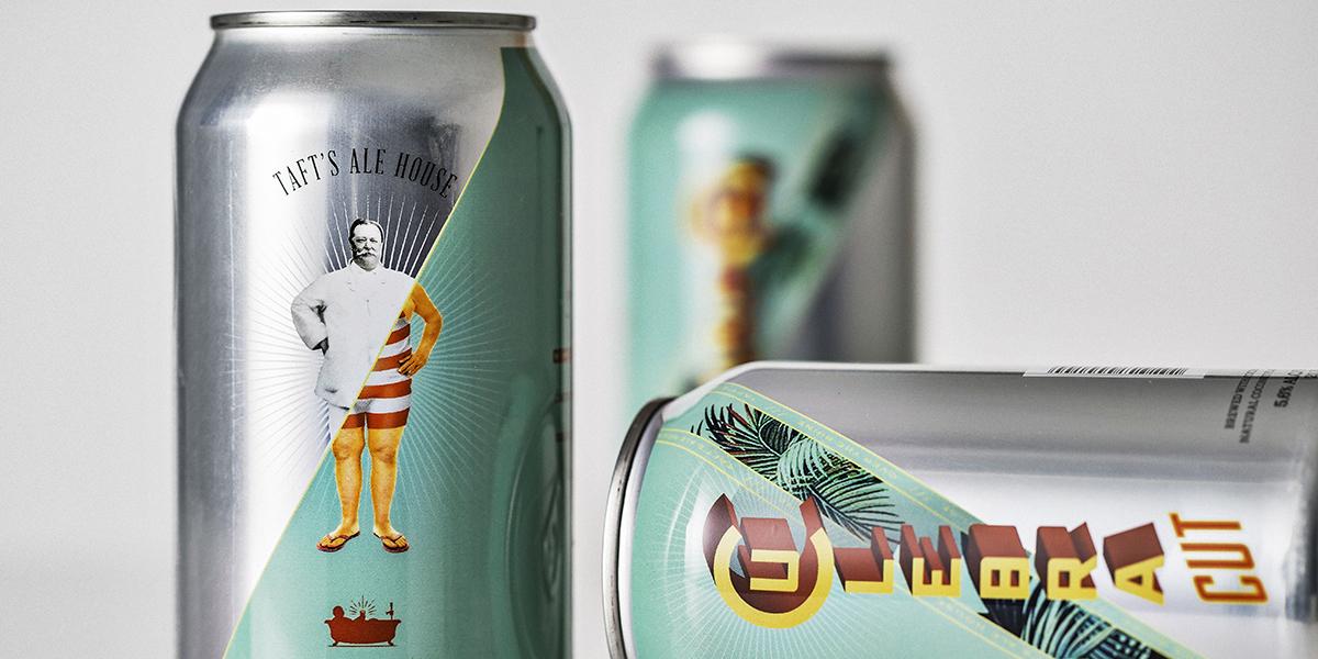 Taft's Craft Beer - Culebra Cut beer packaging design and branding by 1 Trick Pony