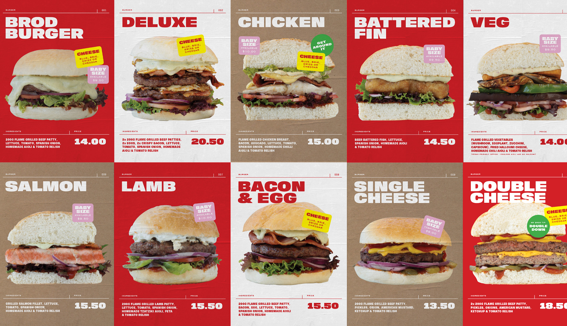 Brodburger fast casual better burger restaurant branding and rebranding by Inkblot in Canberra Australia