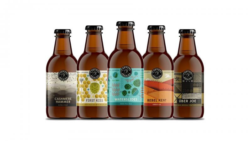 3 Sheeps craft beer brewery branding in Chicago Illinois by Studio Malt