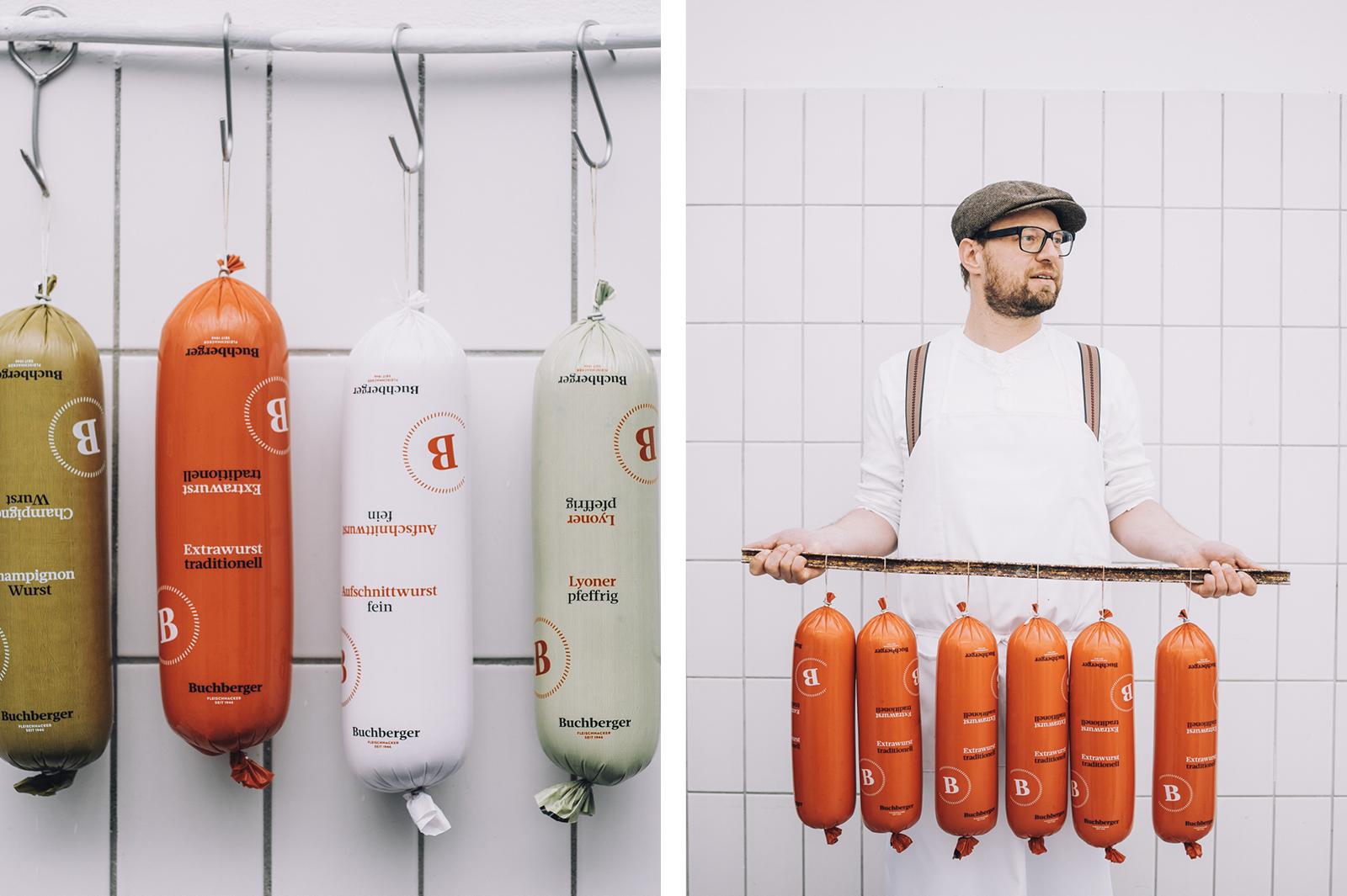 Buchberger butcher shop branding and identity design by Riebenbauer