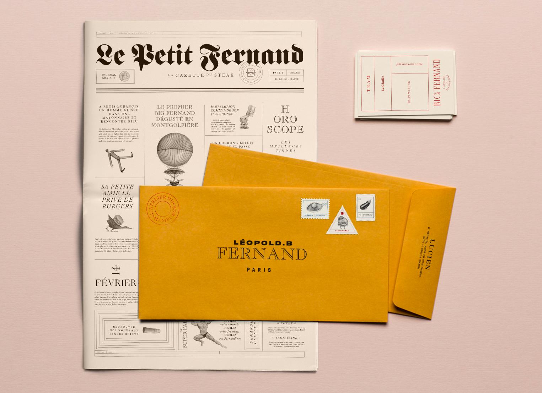 Favori Big Fernand Restaurant Identity - Grits + Grids MU16
