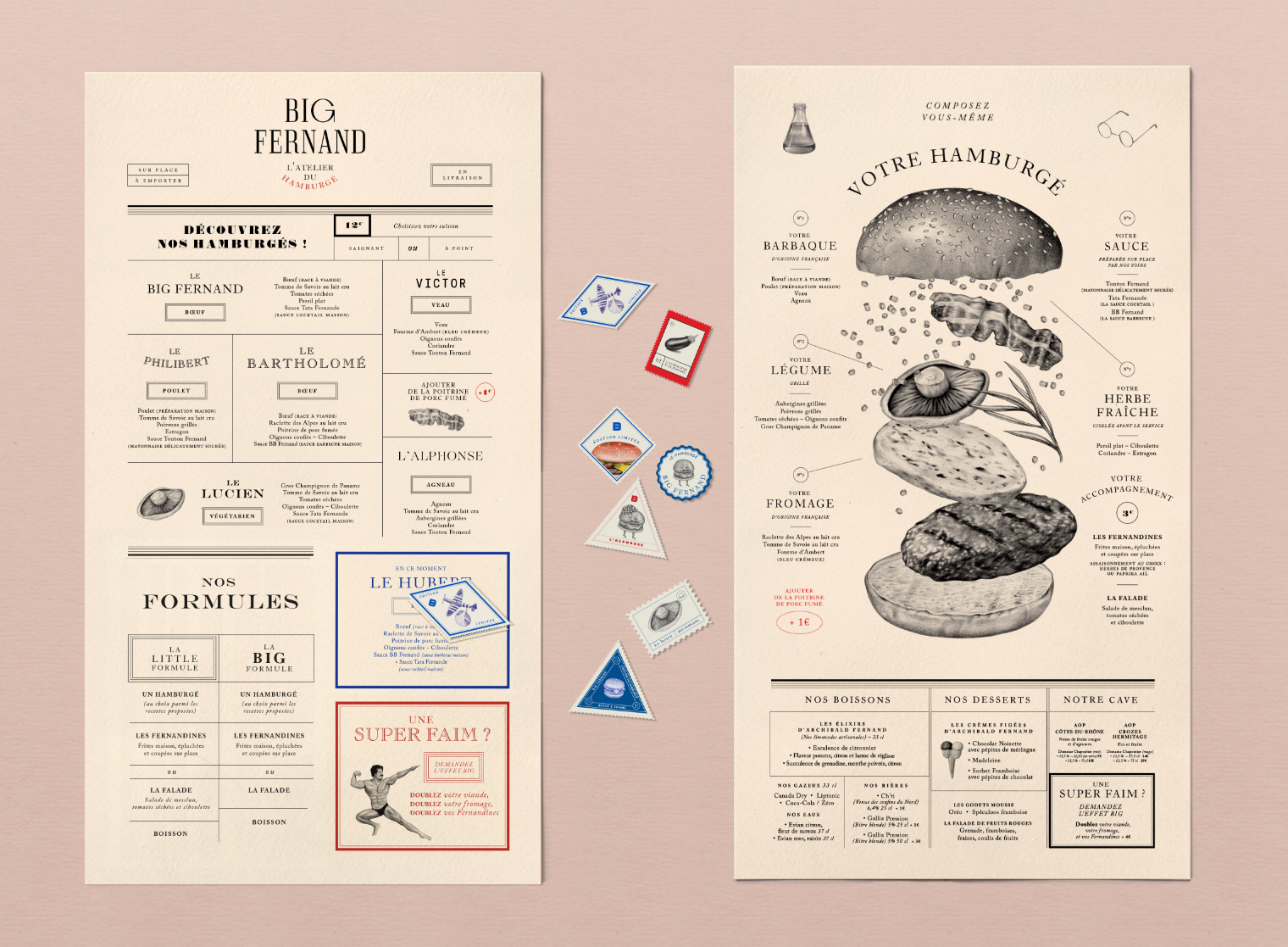 Top Big Fernand Restaurant Identity - Grits + Grids CZ46