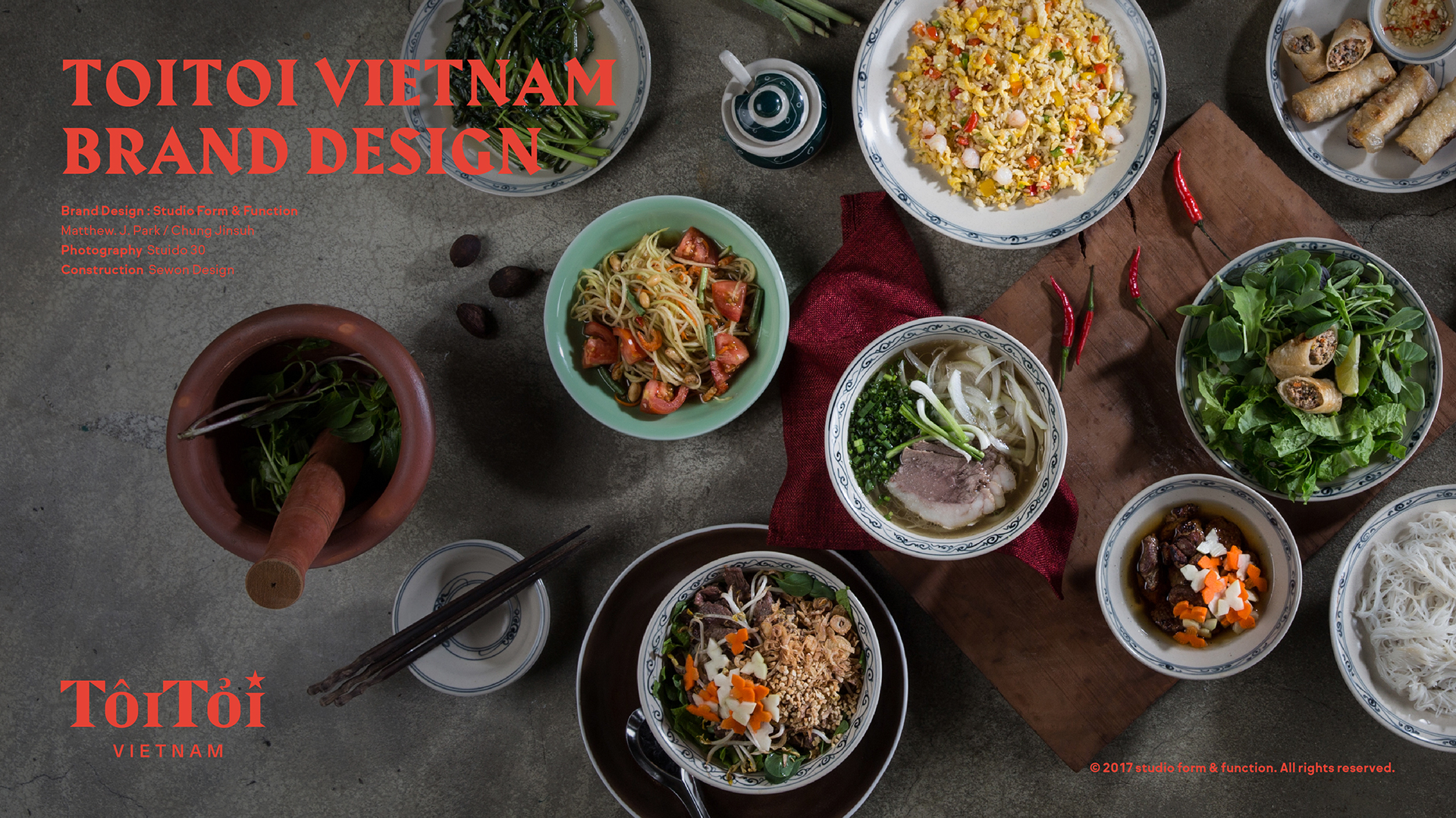 Toitoi Vietnam Restaurant Branding Grits Grids