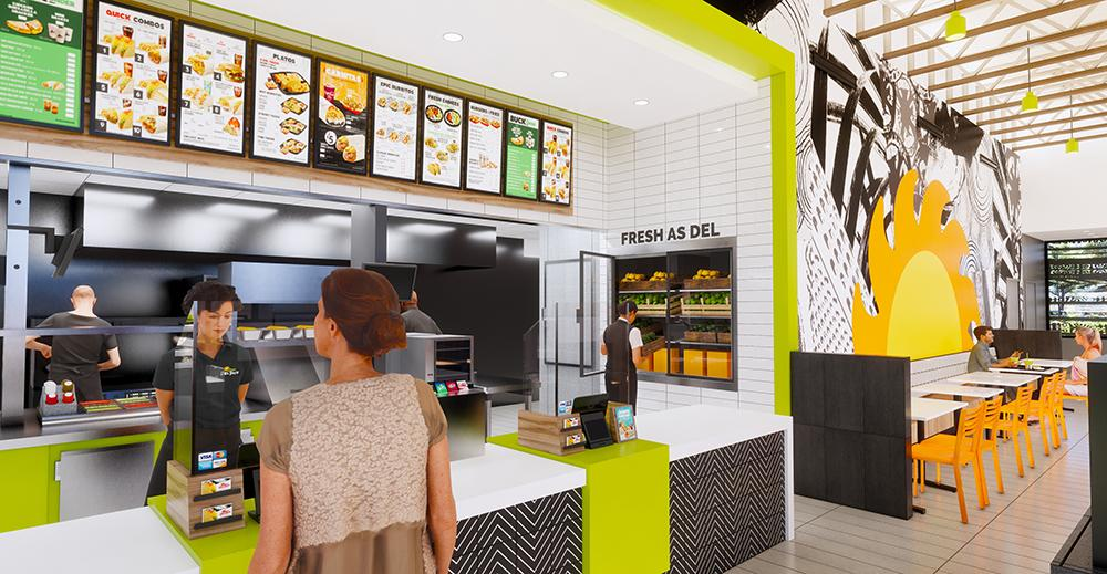 Del Taco concept design and prototype - interior