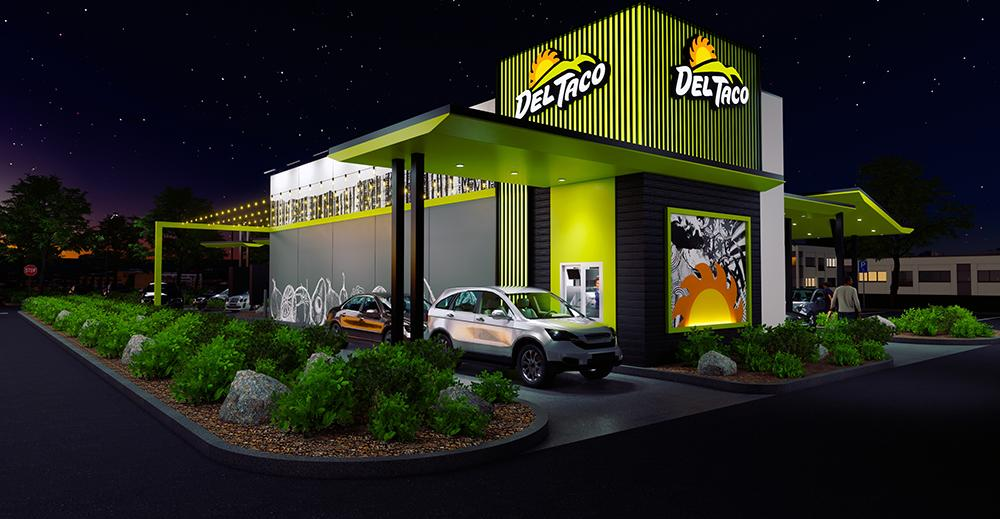 Del Taco concept design and prototype - drive through night 2