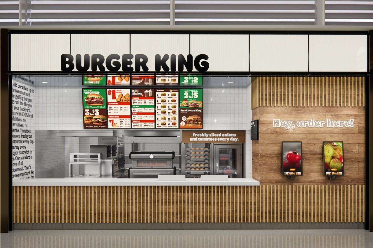 Burger King rebranding interior design direction
