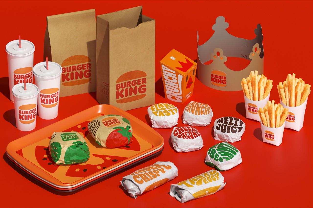 Burger King rebranding packaging design suite