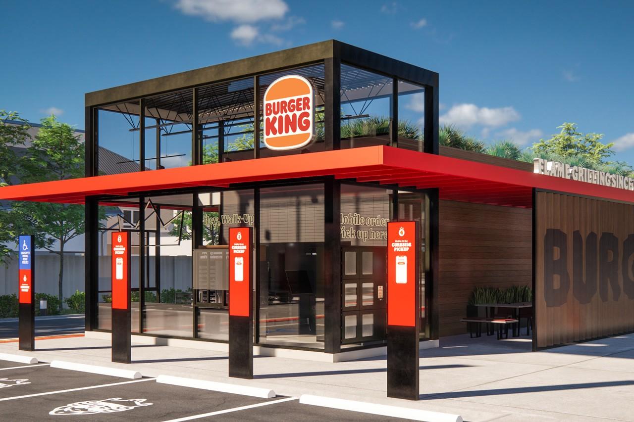 Burger King restaurant rebranding prototype concept design