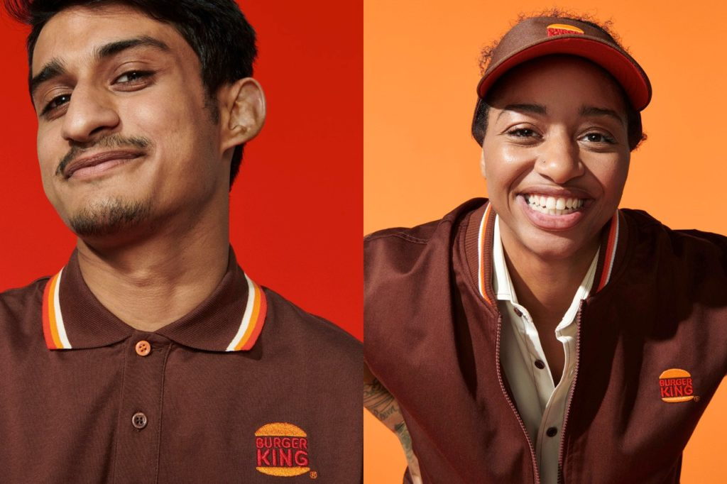 Burger King restaurant rebranding employee uniform design