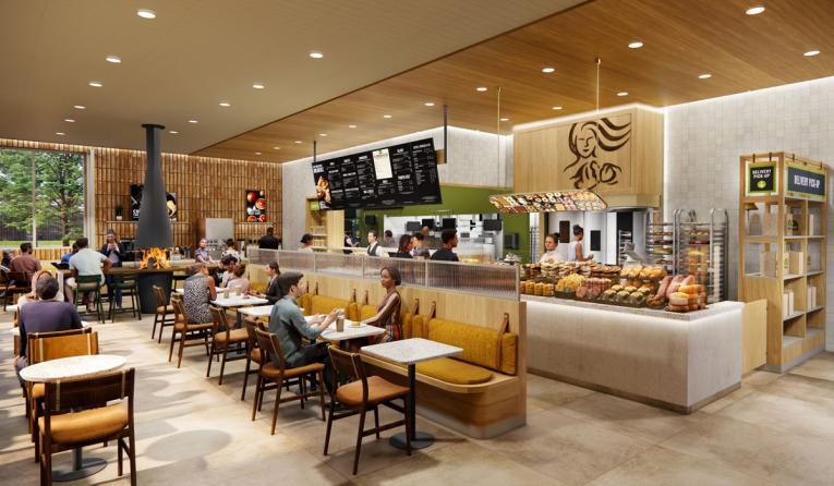 Panera Bread 2021 prototype architectural and interior design