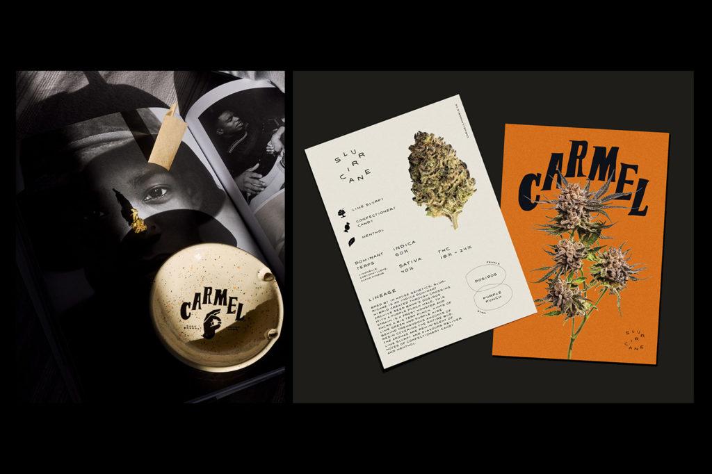 Carmel cannabis branding by Wedge Studio
